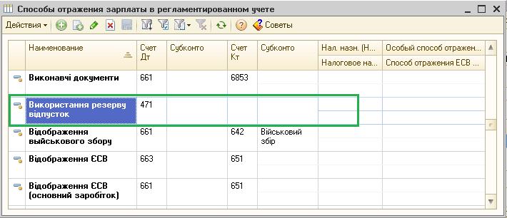 Начисление отпуска в 1с 8.3 бухгалтерия за счет резерва